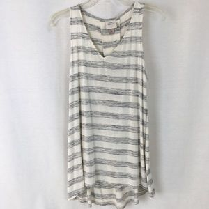 Knox rose Grey and White Stripped Tank